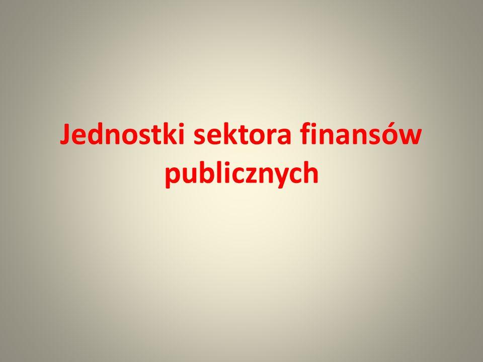 Sektor finansów publicznych art.9 u.f.p.