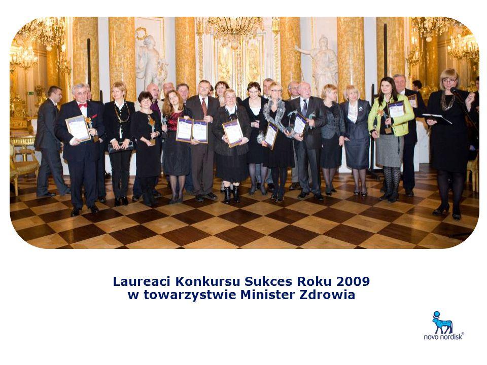 Laureaci Konkursu Sukces Roku 2009 w towarzystwie Minister Zdrowia