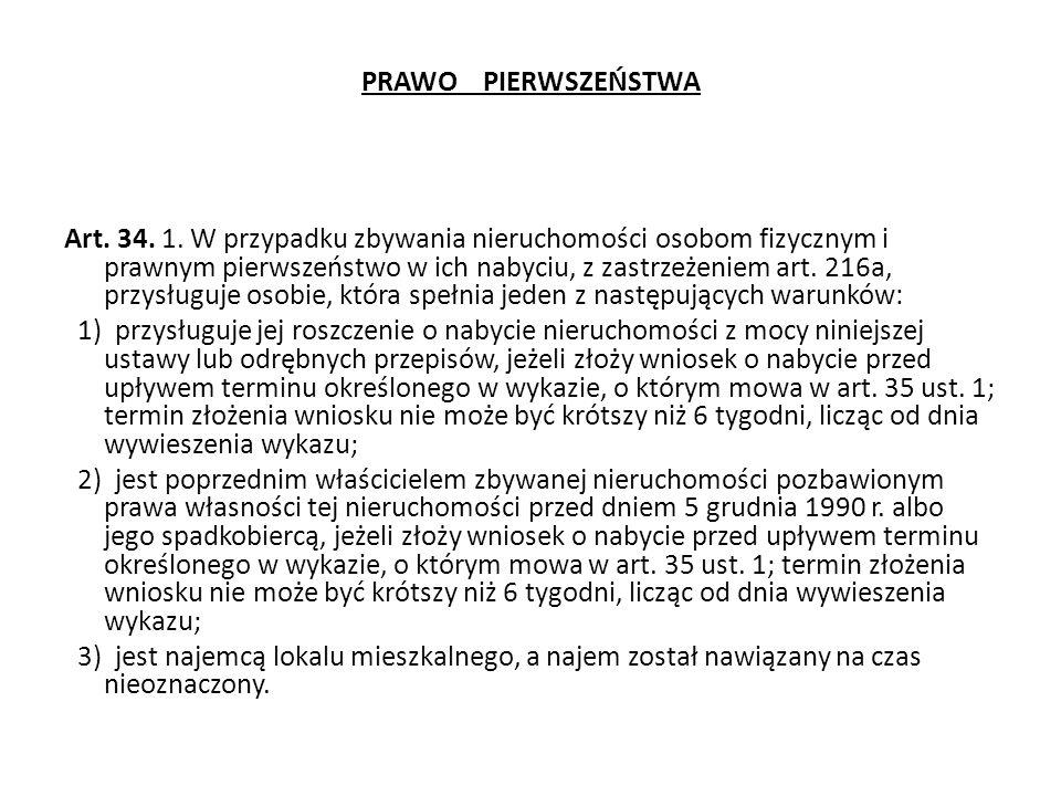 PRAWO PIERWSZEŃSTWA Art.34. 1.