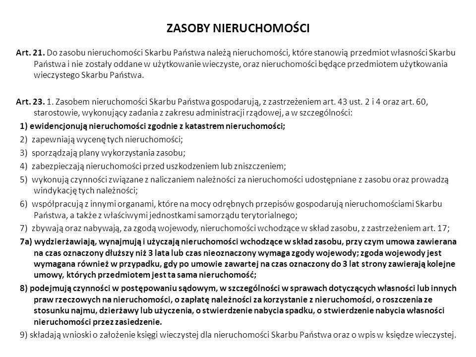 ZASOBY NIERUCHOMOŚCI Art.21.