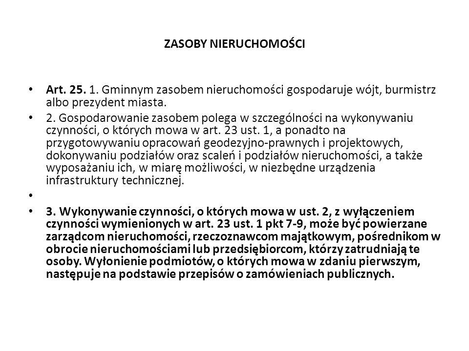 ZASOBY NIERUCHOMOŚCI Art.25. 1.