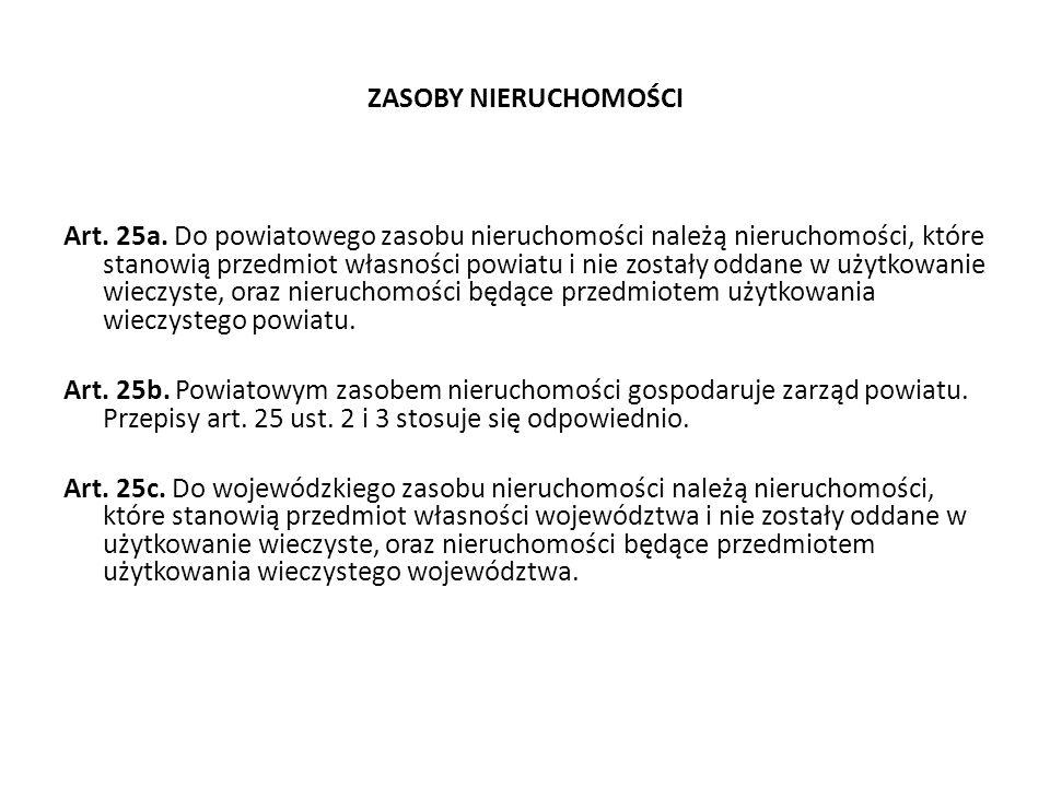 ZASOBY NIERUCHOMOŚCI Art.25a.