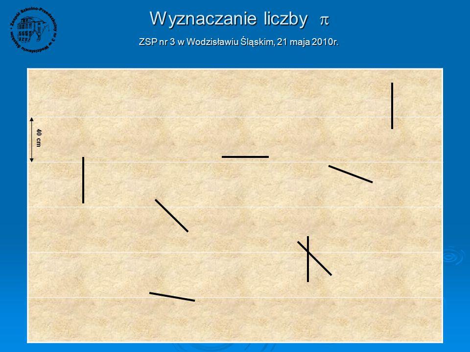 Wyznaczanie liczby  ZSP nr 3 w Wodzisławiu Śląskim, 21 maja 2010r. W dniu 21 maja 2010r. uczniowie klas VI naszej szkoły przeprowadzili eksperyment m