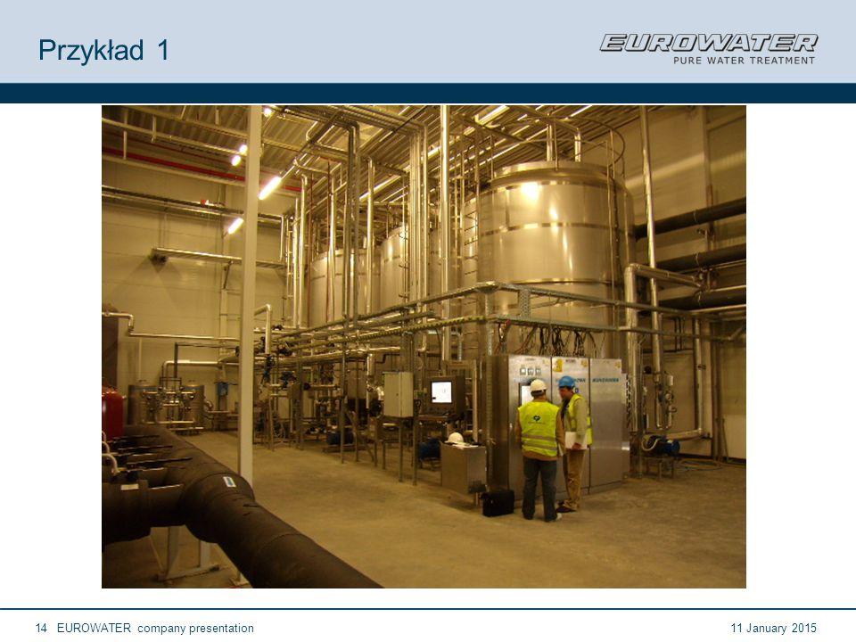 11 January 2015EUROWATER company presentation14 Przykład 1