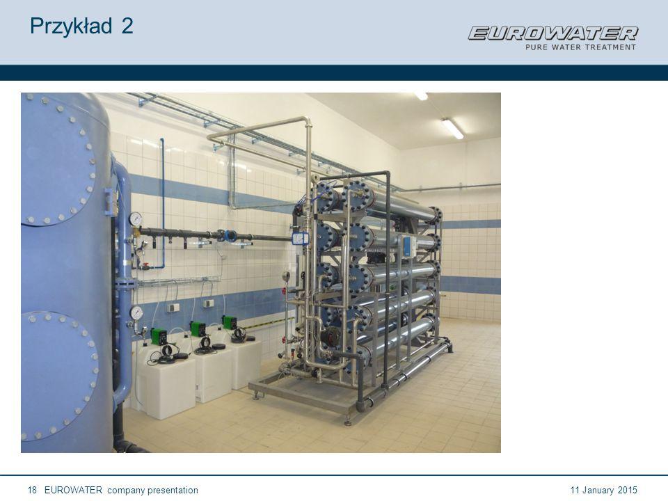 11 January 2015EUROWATER company presentation18 Przykład 2