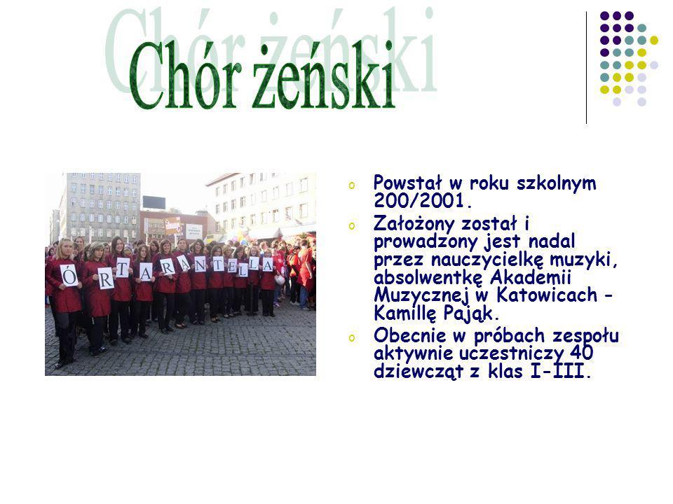 o Powstał w roku szkolnym 200/2001.
