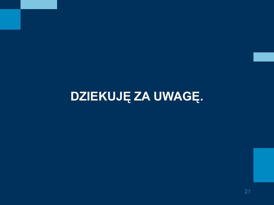 DZIEKUJĘ ZA UWAGĘ. 21