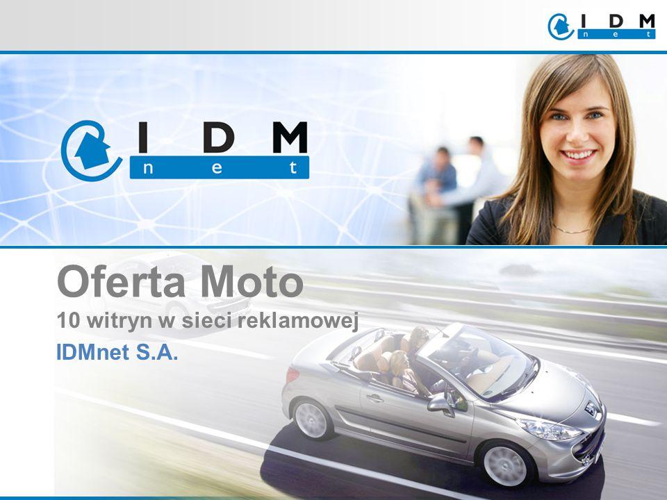 10 witryn w sieci reklamowej IDMnet S.A. Oferta Moto