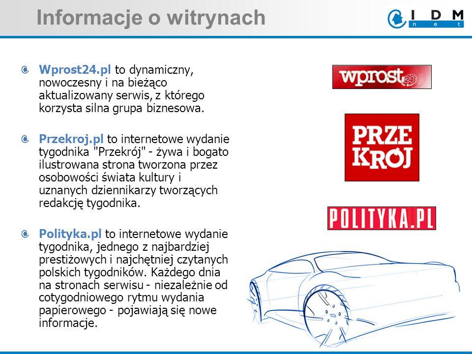 Informacje o witrynach Wprost24.pl to dynamiczny, nowoczesny i na bieżąco aktualizowany serwis, z którego korzysta silna grupa biznesowa. Przekroj.pl