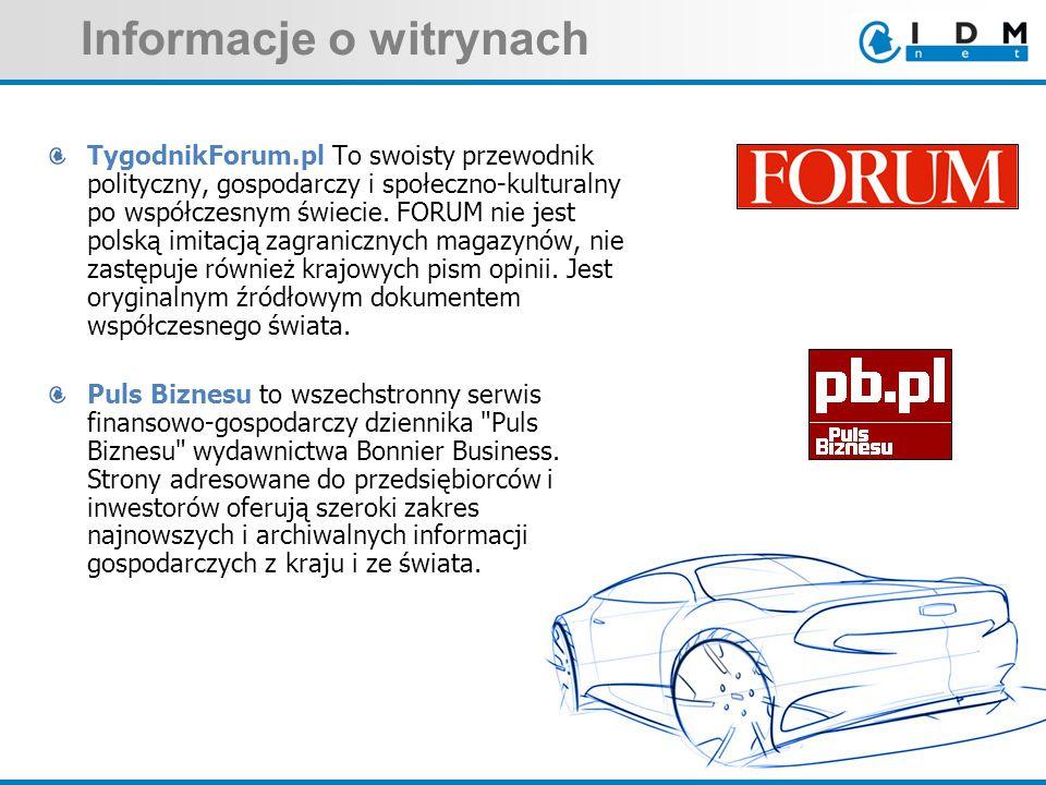 Informacje o witrynach TygodnikForum.pl To swoisty przewodnik polityczny, gospodarczy i społeczno-kulturalny po współczesnym świecie.
