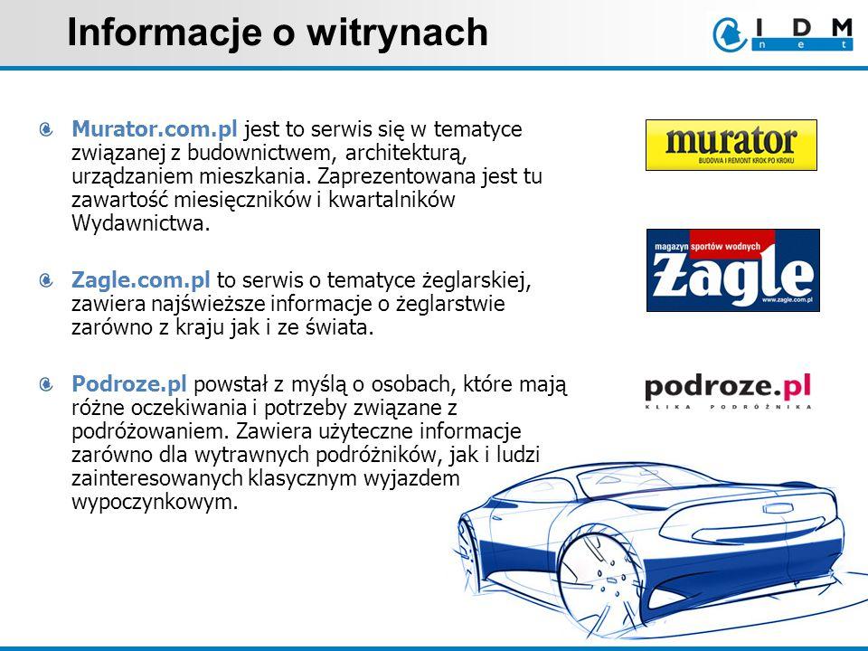 Informacje o witrynach Murator.com.pl jest to serwis się w tematyce związanej z budownictwem, architekturą, urządzaniem mieszkania.