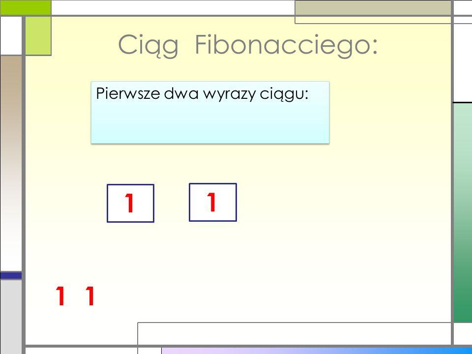 Własności ciągu Fibonacciego Liczba 1.618 ta nazywana jest Złotą Liczbą Stosunek 1.618 określa się mianem Złotego Podziału lub Boskiej Proporcji Liczba 1.618 ta nazywana jest Złotą Liczbą Stosunek 1.618 określa się mianem Złotego Podziału lub Boskiej Proporcji