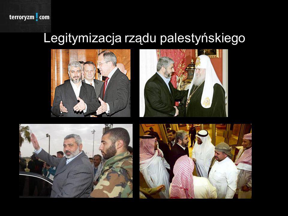 Wybrane konsekwencje wyborów parlamentarnych, wnioski i propozycje Konsekwencje: Ograniczenie kontaktów przez UE i USA z rządem Autonomii Palestyńskiej Zaprzestanie udzielania pomocy finansowej Hamasowi Separacja Palestyńczyków od Zachodu oraz jego pomocy Utrata kontaktu ze stosunkowo dużym segmentem populacji palestyńskiej Wzmacnianie Islamskiego Ruchu Oporu poprzez uniezależnienie się od pomocy finansowej Zachodu oraz w przypadku izolacji rządu Hamasu dialogu z opozycją, państwami arabskimi, organizacjami terrorystycznymi Rekomendacje: Utrzymanie zawieszenia broni (cooling period) między Hamasem a Izraelem Współpraca Islamskiego Ruchu Oporu z opozycją celem utworzenia rządu jedności narodowej co może przyspieszyć proces uznania rządu palestyńskiego przez USA i UE Uwolnienie przez Izrael palestyńskich więźniów oraz przestrzeganie zawieszenia broni Nawiązanie oficjalnych kontaktów przez UE z Hamasem, które i tak prawdopodobnie istnieją Wznowienie pomocy finansowej przez UE i USA dla Autonomii Palestyńskiej pod warunkiem nadzoru dystrybucji otrzymanych środków finansowych