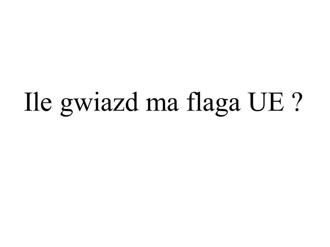 Ile gwiazd ma flaga UE ?