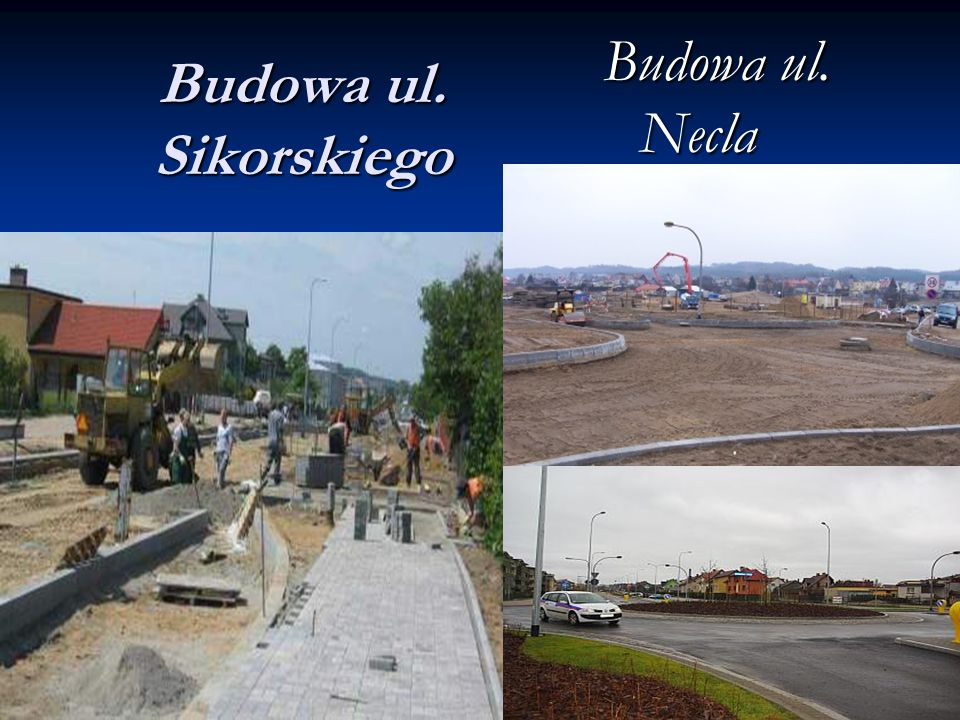 Budowa ul. Sikorskiego Budowa ul. Necla
