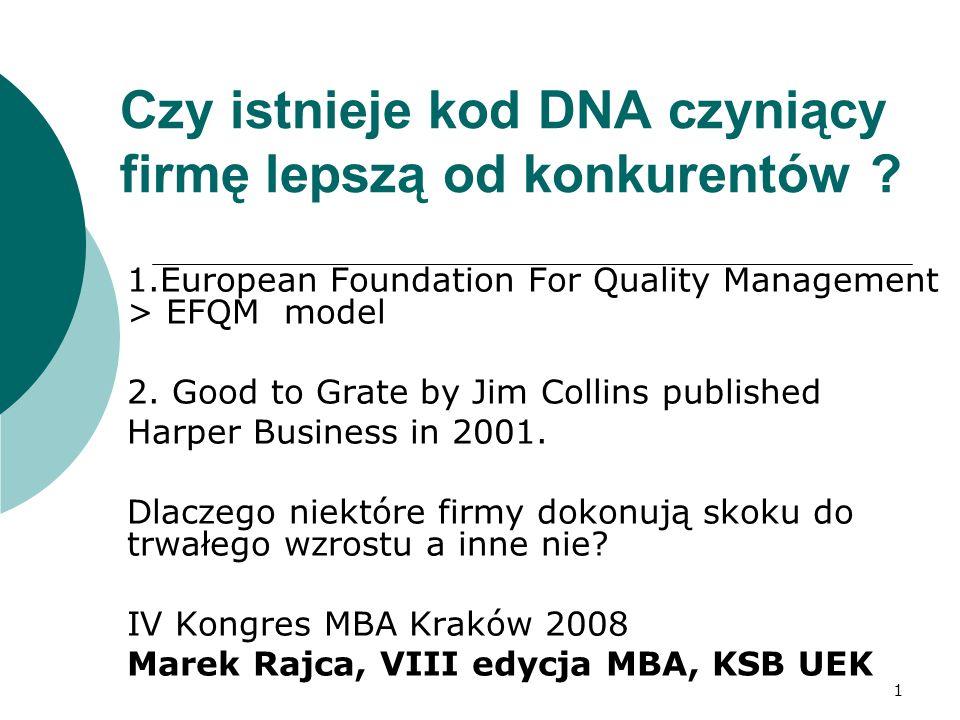1 Czy istnieje kod DNA czyniący firmę lepszą od konkurentów .
