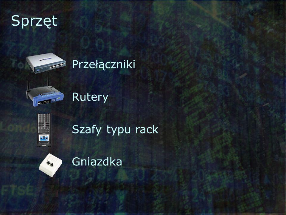 Sprzęt Przełączniki Rutery Szafy typu rack Gniazdka