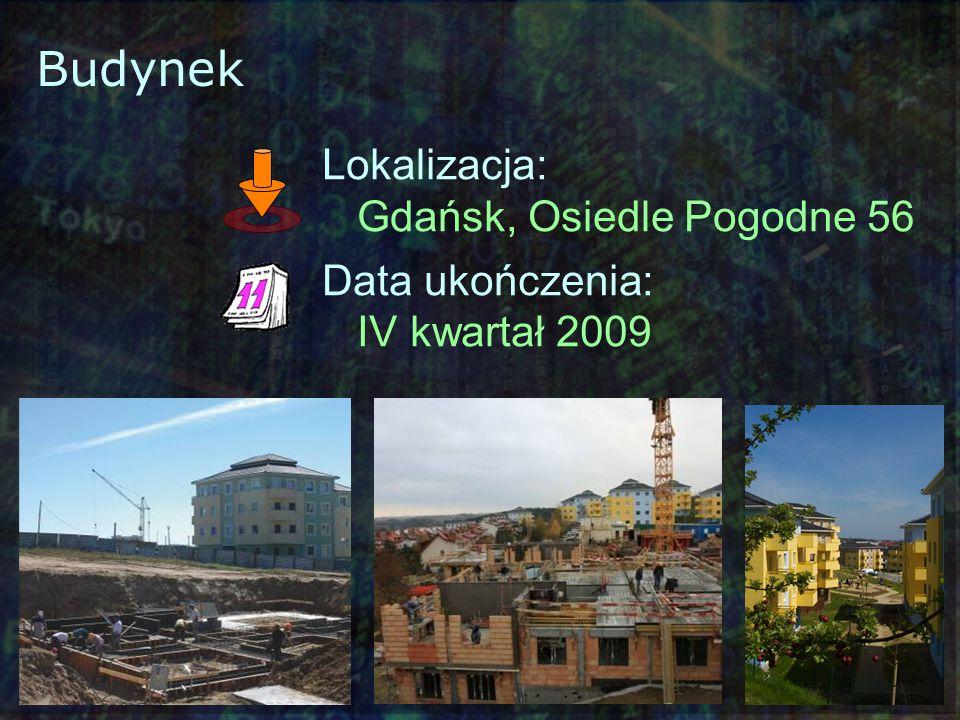 Budynek Lokalizacja: Gdańsk, Osiedle Pogodne 56 Data ukończenia: IV kwartał 2009