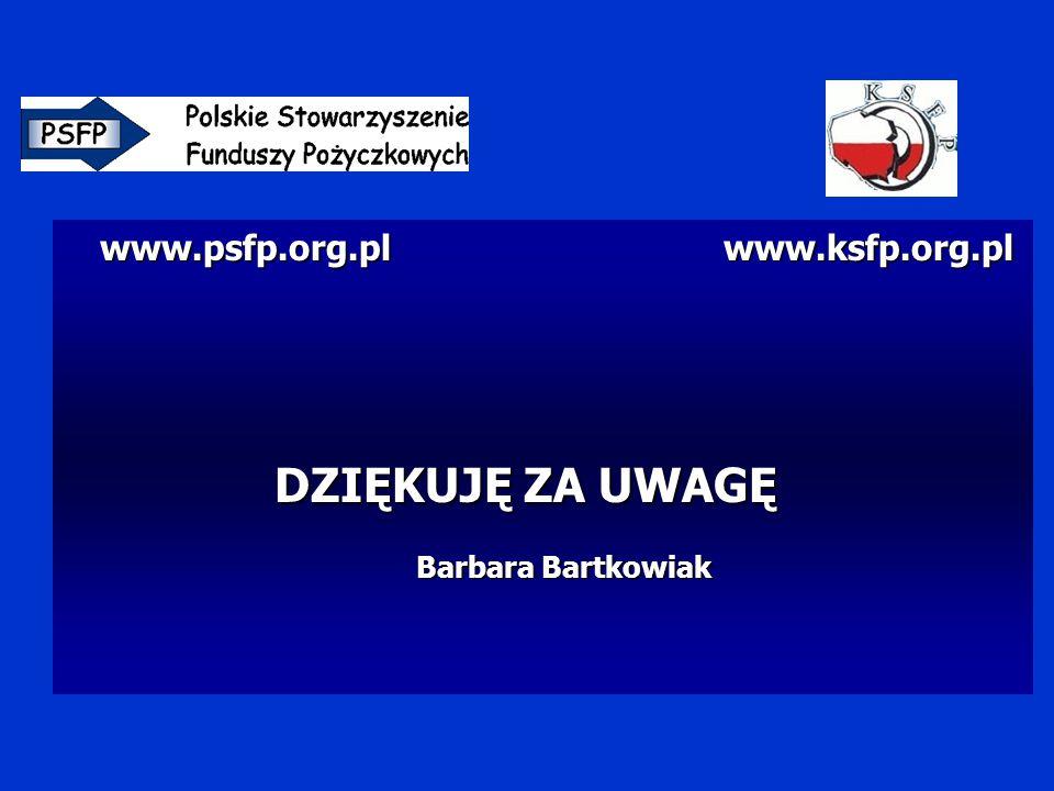 www.psfp.org.pl www.ksfp.org.pl www.psfp.org.pl www.ksfp.org.pl DZIĘKUJĘ ZA UWAGĘ Barbara Bartkowiak