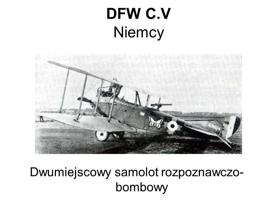 DFW C.V Niemcy Dwumiejscowy samolot rozpoznawczo- bombowy