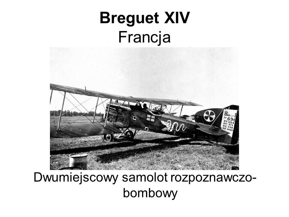 Breguet XIV Francja Dwumiejscowy samolot rozpoznawczo- bombowy