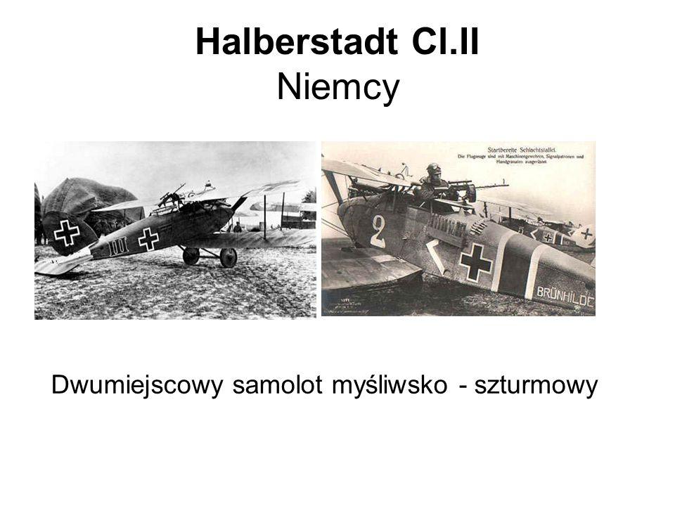 Halberstadt Cl.II Niemcy Dwumiejscowy samolot myśliwsko - szturmowy