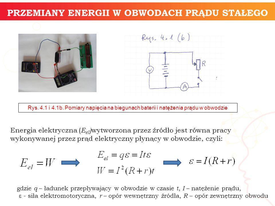 informatyka + 14 Energia elektryczna ( E el ) wytworzona przez źródło jest równa pracy wykonywanej przez prąd elektryczny płynący w obwodzie, czyli: R