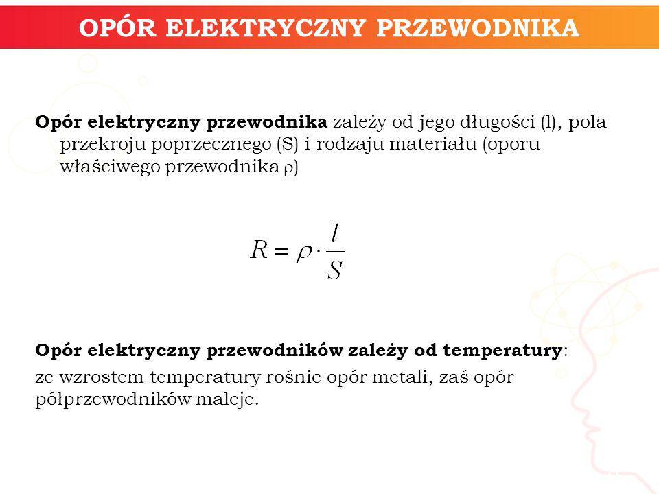 informatyka + 8 OPÓR ELEKTRYCZNY PRZEWODNIKA Opór elektryczny przewodnika zależy od jego długości (l), pola przekroju poprzecznego (S) i rodzaju mater
