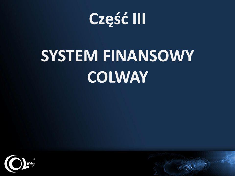 Część III SYSTEM FINANSOWY COLWAY