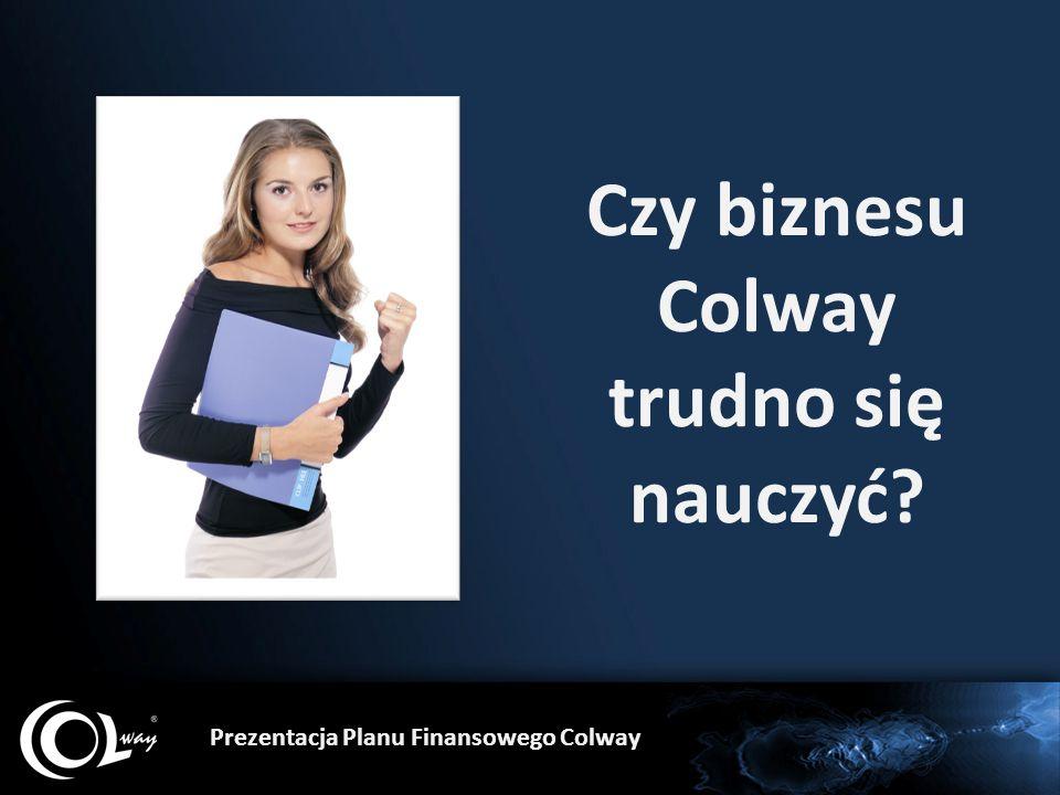 Czy biznesu Colway trudno się nauczyć? Prezentacja Planu Finansowego Colway