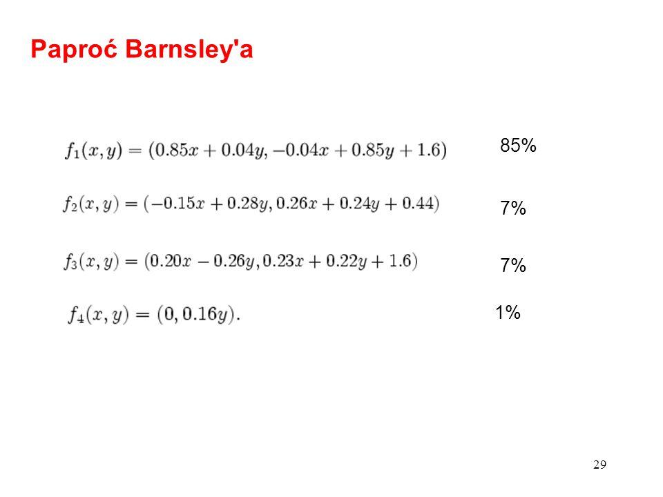 29 Paproć Barnsley'a 85% 7% 1%
