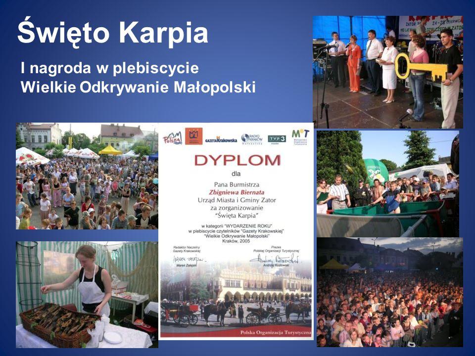 Święto Karpia I nagroda w plebiscycie Wielkie Odkrywanie Małopolski