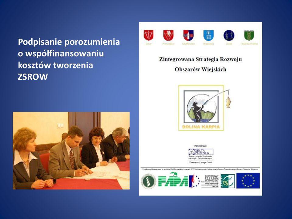 Podpisanie porozumienia o współfinansowaniu kosztów tworzenia ZSROW
