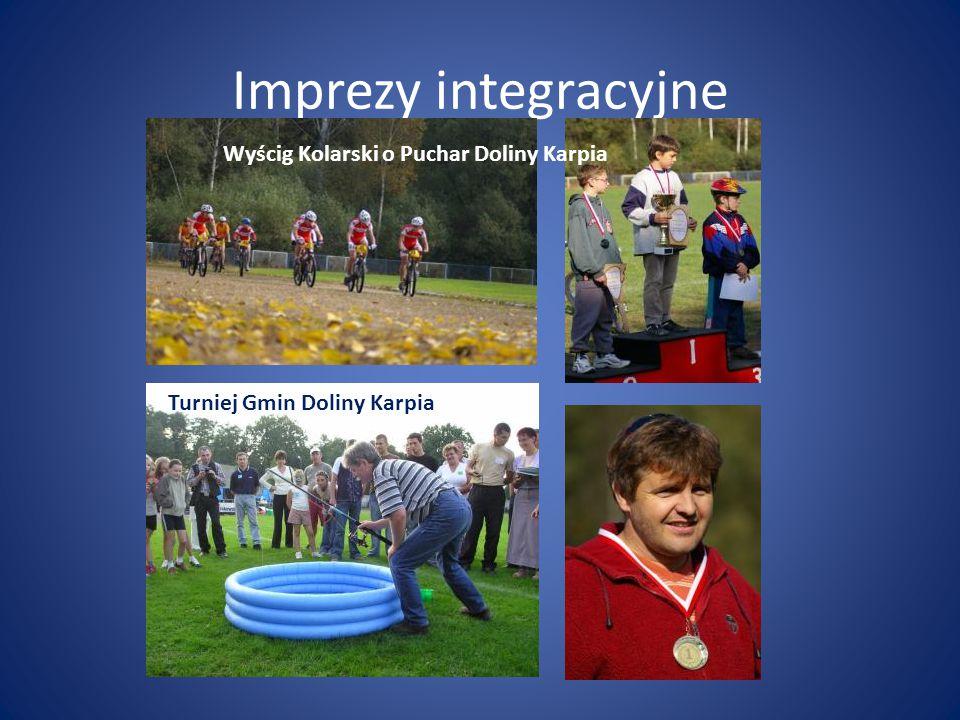 Imprezy integracyjne Turniej Gmin Doliny Karpia Wyścig Kolarski o Puchar Doliny Karpia