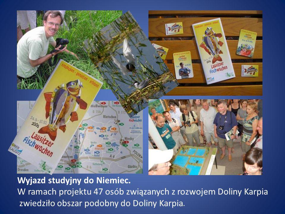 Wyjazd studyjny do Niemiec. W ramach projektu 47 osób związanych z rozwojem Doliny Karpia zwiedziło obszar podobny do Doliny Karpia.