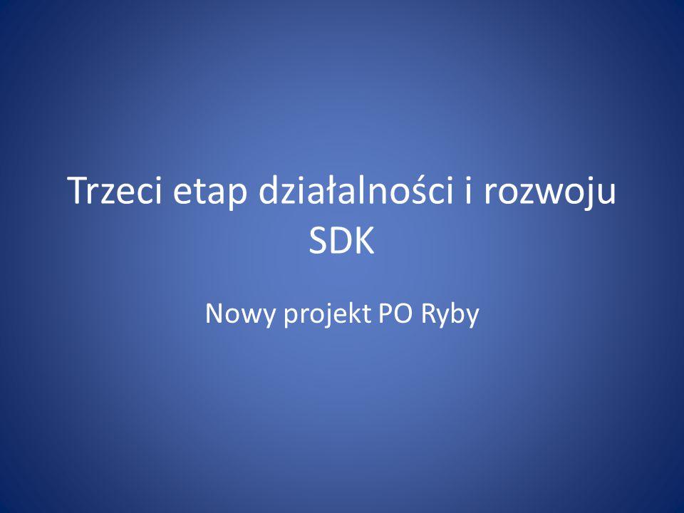 Trzeci etap działalności i rozwoju SDK Nowy projekt PO Ryby