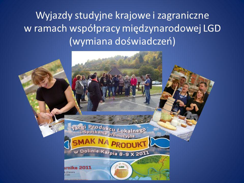 Wyjazdy studyjne krajowe i zagraniczne w ramach współpracy międzynarodowej LGD (wymiana doświadczeń)