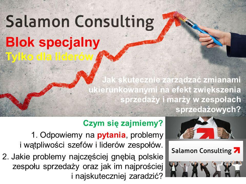 Jak skutecznie zarządzać zmianami ukierunkowanymi na efekt zwiększenia sprzedaży i marży w zespołach sprzedażowych? Czym się zajmiemy? 1. Odpowiemy na