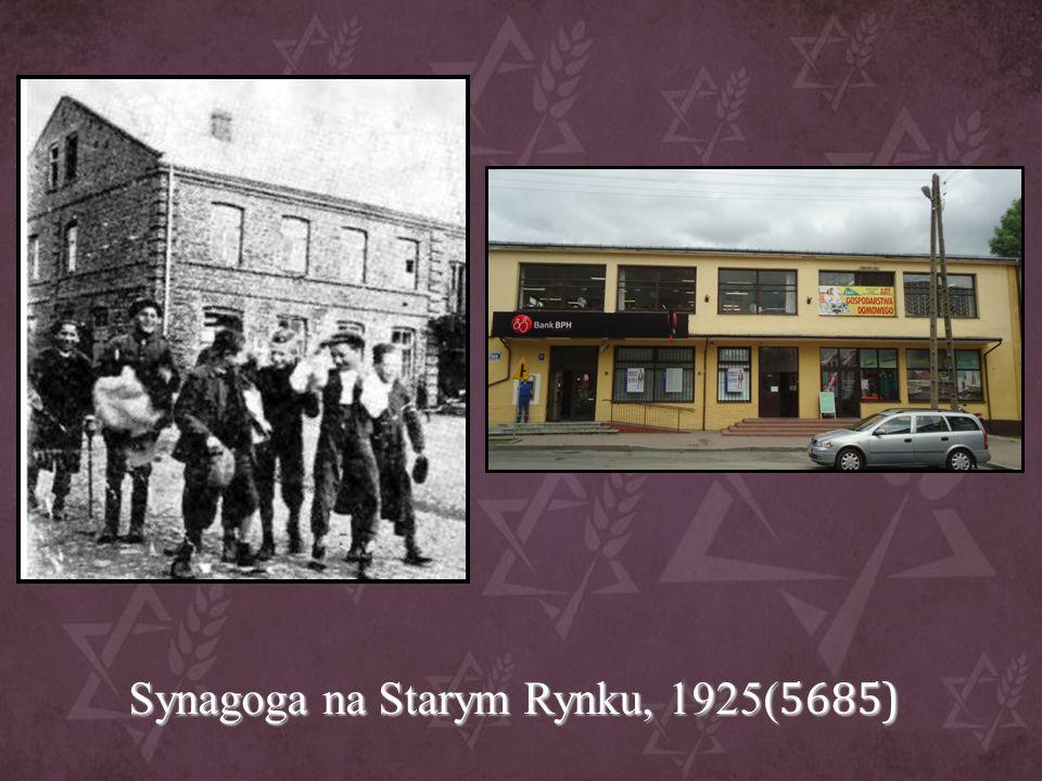 Synagoga na Starym Rynku, 1925( 5685)