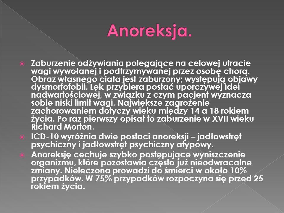  W procesie zapobiegania anoreksji bardzo ważna jest samoobserwacja.