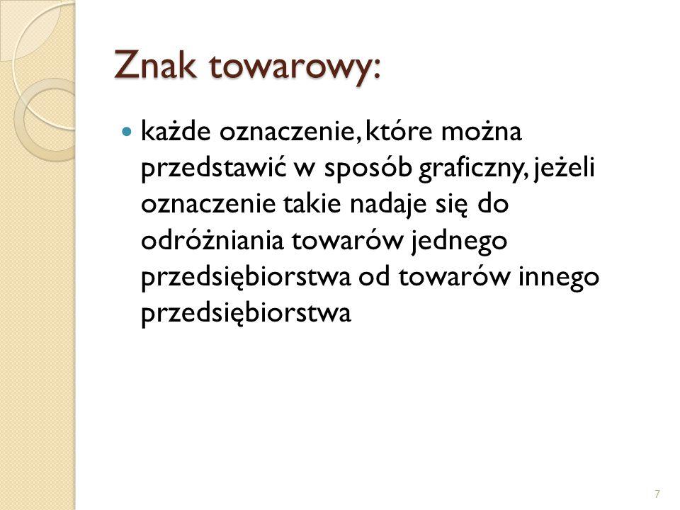 Patent: prawo wyłącznego korzystania z wynalazku w sposób zarobkowy lub zawodowy na terenie Rzeczypospolitej Polskiej 8