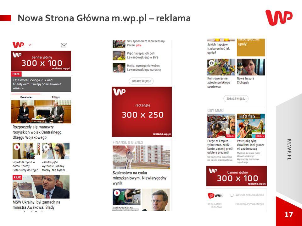 17 Nowa Strona Główna m.wp.pl – reklama M.WP.PL.