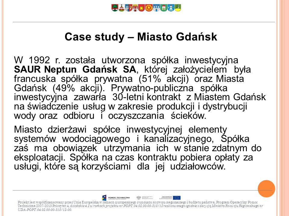Case study – Miasto Gdańsk W 1992 r.