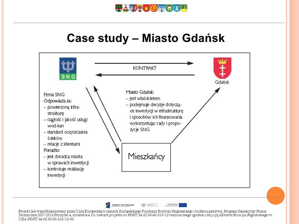 Case study – Miasto Gdańsk Projekt jest współfinansowany przez Unię Europejską w ramach Europejskiego Funduszu Rozwoju Regionalnego i budżetu państwa, Program Operacyjny Pomoc Techniczna 2007-2013 Priorytet 4, działanie 4.2 w ramach projektu nr POPT.04.02.00-00-318/12 realizowanego zgodnie z decyzją Ministra Rozwoju Regionalnego nr UDA-POPT.04.02.00-00-318/12-00.
