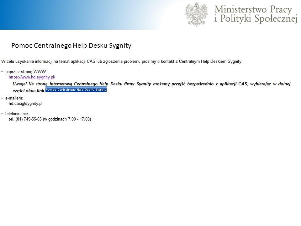 Pomoc Centralnego Help Desku Sygnity