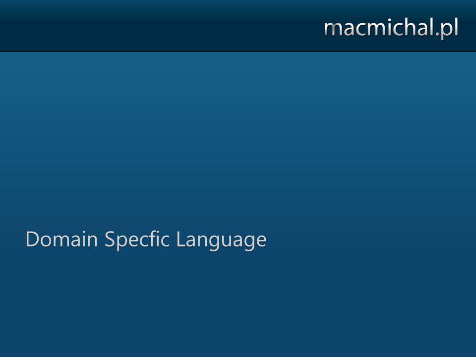 Linki http://bfsharp.codeplex.com http://cqrssample.codeplex.com/ http://dsl.codeplex.com/ http://blog.macmichal.pl