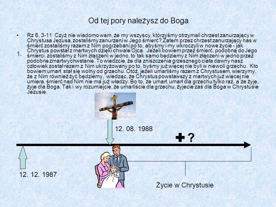 Rz 6, 3-11 Czyż nie wiadomo wam, że my wszyscy, którzyśmy otrzymali chrzest zanurzający w Chrystusa Jezusa, zostaliśmy zanurzeni w Jego śmierć? Zatem