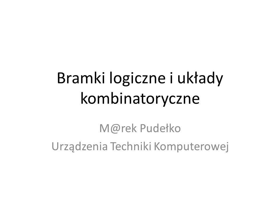 Bramka logiczna Bramka logiczna to praktyczna realizacja funktora logicznego.