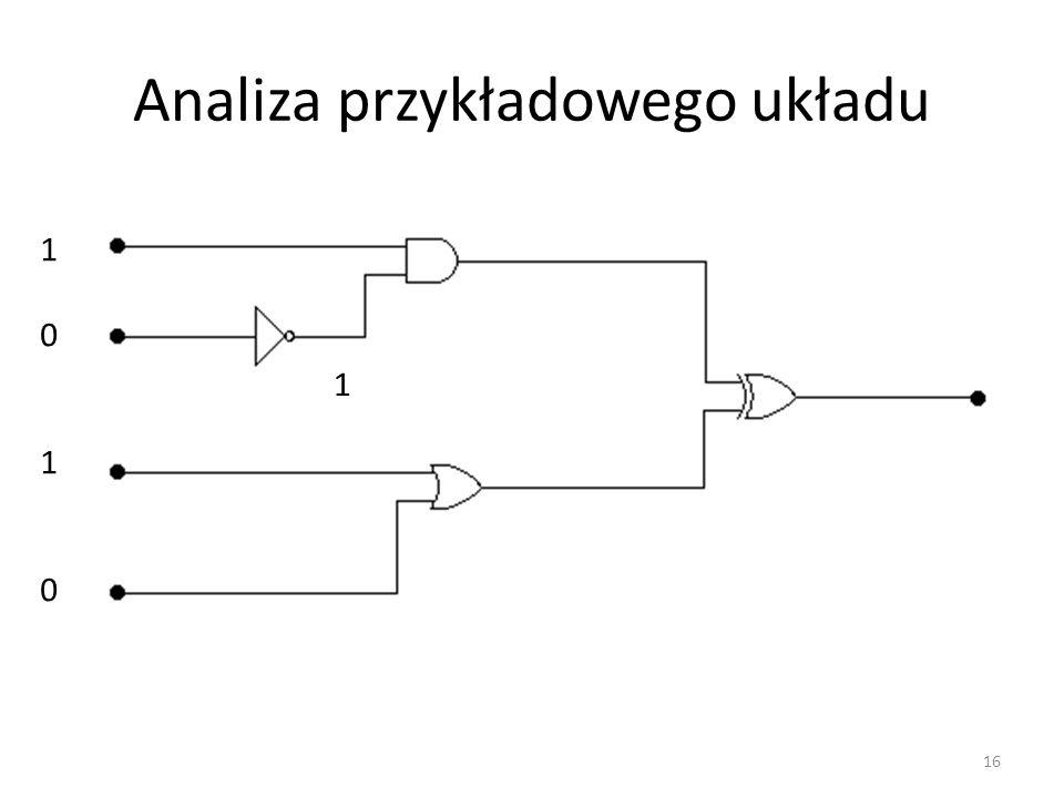 Analiza przykładowego układu 10101010 1 16