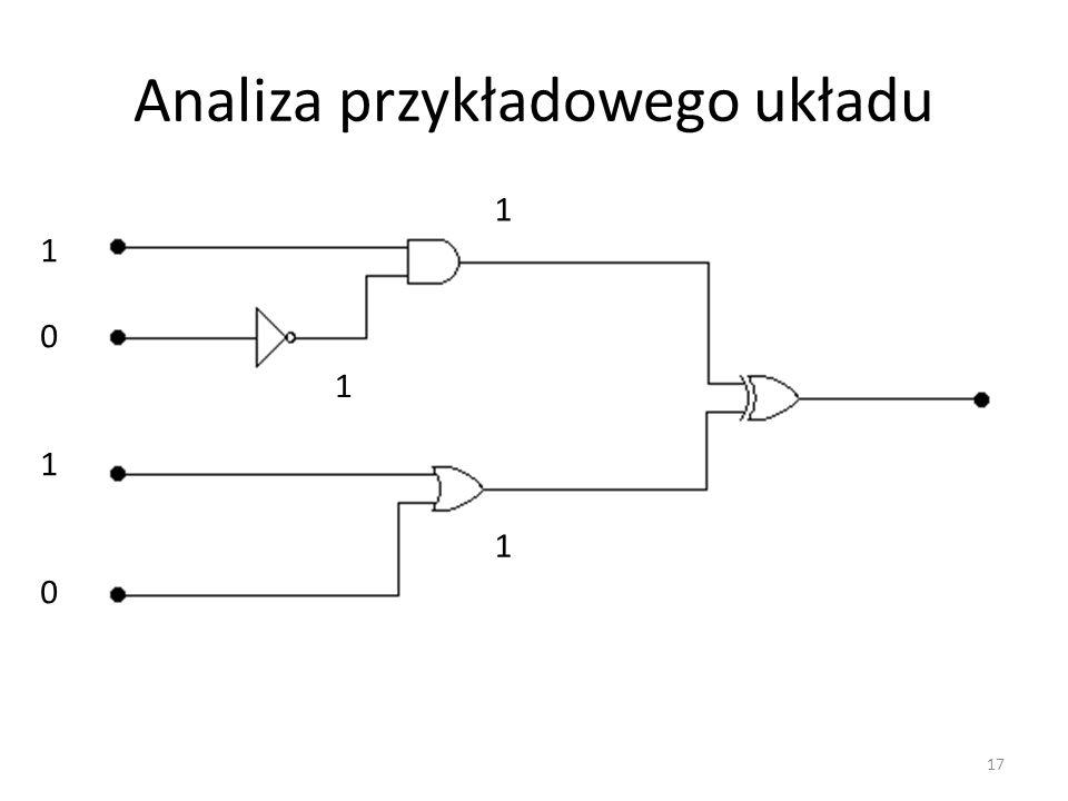 Analiza przykładowego układu 10101010 1 1 1 17
